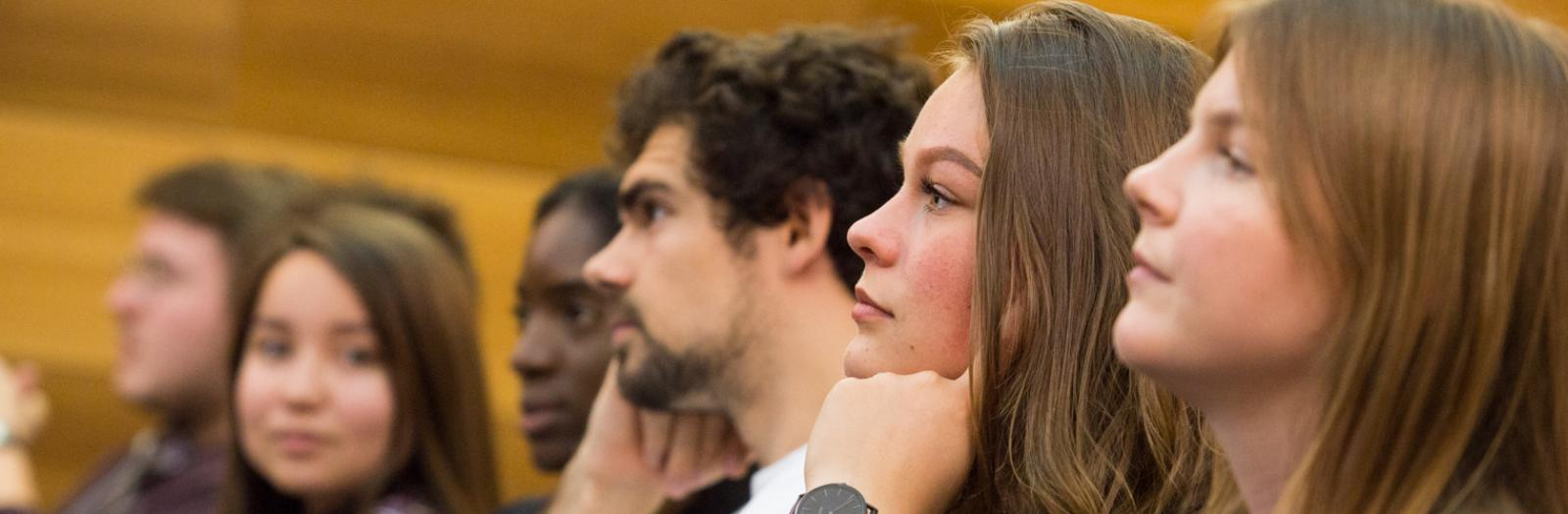 Students attending a seminar